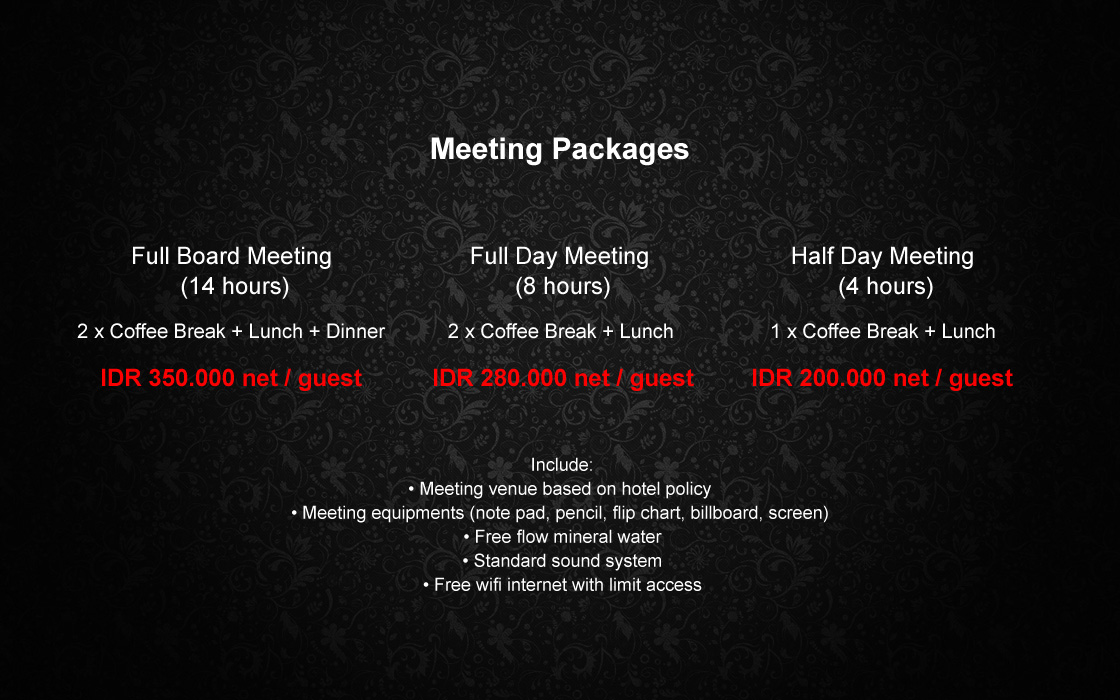 Meeting Package Swiss BelBoutique Yogyakarta